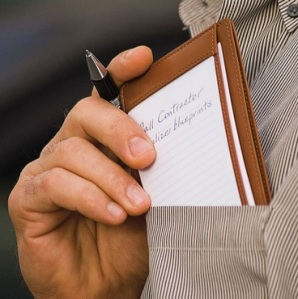 Levenger Index Card Holder Pocket Briefcase