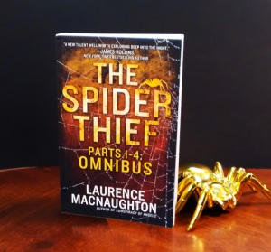 The Spider Thief thriller with gold spider
