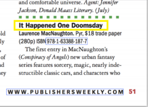 Publishers Weekly print edition