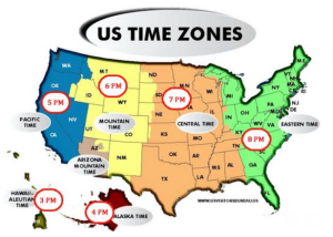 Night Owl Reviews author chat time zone map