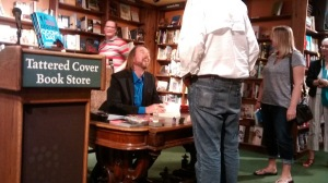Laurence MacNaughton and fans at Tattered Cover