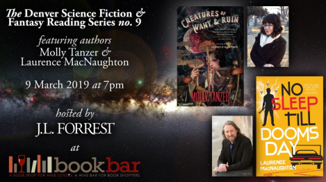 Bookbar author signing event Laurence MacNaughton